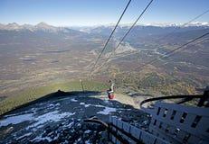 En bergskytramen - rutt Fotografering för Bildbyråer