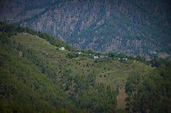 En bergstoppstad Royaltyfria Bilder