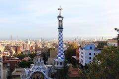 Barcelona från Guell parkerar royaltyfri bild