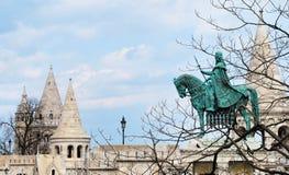 En beskåda av fiskare bastion i Budapest Arkivfoto