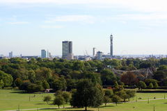 London Cityscape Royaltyfri Foto