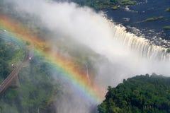 Victoria Falls i Zimbabwe royaltyfri bild