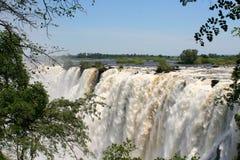 Victoria Falls i Zimbabwe arkivfoton