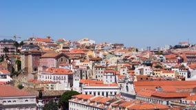 En beskådadel av staden Lisbon. Fotografering för Bildbyråer