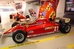 En bil för Ferrari formel 1 i det Ferrari museet, Maranello, Italien arkivbilder