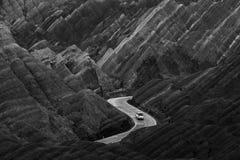 En bilbortgång till och med Dan xiaaera arkivbilder
