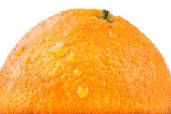 En bild av en ny apelsin som isoleras på vit Royaltyfri Foto