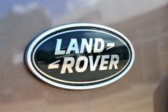 En bild av ett land Rover Logo - Bielefeld/Tyskland - 07/23/2017 Arkivbilder