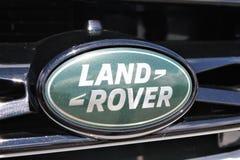 En bild av ett land Rover Logo - Bielefeld/Tyskland - 07/23/2017 Arkivbild