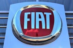 En bild av en Fiat logo - Bielefeld/Tyskland - 07/23/2017 Royaltyfria Foton