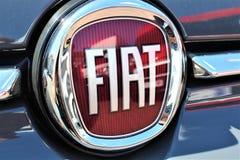 En bild av en Fiat logo - Bielefeld/Tyskland - 07/23/2017 Royaltyfri Bild