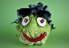 En bild av en galen grönsak - gyckel arkivfoto
