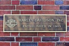 En bild av en Harley Davidson Logo - en Bielefeld/en Tyskland - 07/23/2017 Arkivfoto