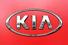 En bild av en KIA logo - Bielefeld/Tyskland - 07/23/2017 Royaltyfri Foto