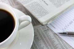 En bild av en kopp kaffe - med kopieringsutrymme Royaltyfri Bild