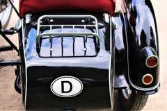 En bild av en motorcykelsidecar Arkivbild