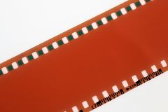 En bild av en negativ film - med kopieringsutrymme arkivfoto