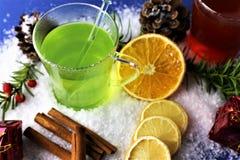 En bild av en vinter dricker - juldrinken Fotografering för Bildbyråer