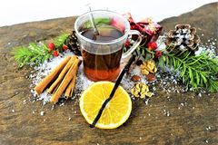 En bild av en vinter dricker - juldrinken Royaltyfria Foton