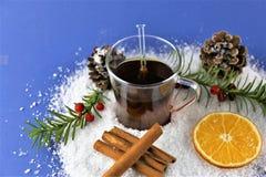 En bild av en vinter dricker - juldrinken Arkivfoton