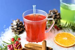 En bild av en vinter dricker - juldrinken Royaltyfria Bilder