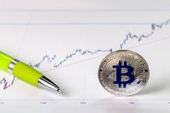 En bild med ett bitcointecken Royaltyfri Bild