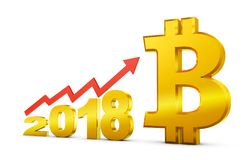 2018 en bitcoin vector illustratie