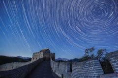 En blå cirkel----stjärnaslingor Royaltyfri Fotografi