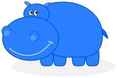 En blå flodhäst Royaltyfri Foto