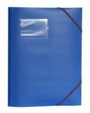 En blå mapp Fotografering för Bildbyråer