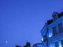 En blå natt Arkivfoton