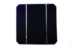 En blå sol- cell för singel Royaltyfria Bilder