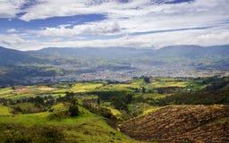 En blick till söderna San Juan de Pasto - Colombia arkivfoton
