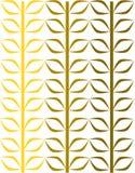 En blom- vinrankamodell goldeen in gula signaler vektor illustrationer