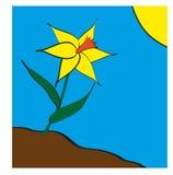En blomma i fjädertiden Fotografering för Bildbyråer