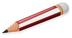 En blyertspenna royaltyfri illustrationer