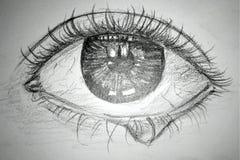 En blyertspenna skissar illustrationen Skissa teckningen royaltyfri bild