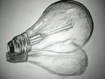 En blyertspenna skissar illustrationen Skissa teckningen fotografering för bildbyråer