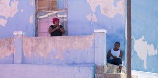 En BO Kaap, Cape Town, Afrique du Sud Photographie stock libre de droits
