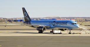 En Boeing 757 från La Compagnie (B0) Arkivbild