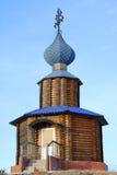 en bois blanc de la Russie de permanente de montagne de chapelle Photos libres de droits