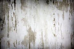 En bois conseils blancs endommagés vieux par vintage Images libres de droits