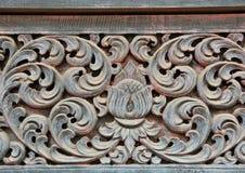 En bois découpé pour le lanna de temple Photos libres de droits