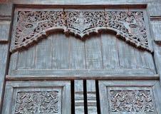 en bois découpé pour le temple Image libre de droits
