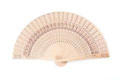 En bois découpez la fan se pliante Image libre de droits