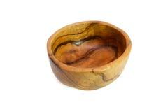 en bois d'isolement fabriqué à la main de cuvette Images libres de droits