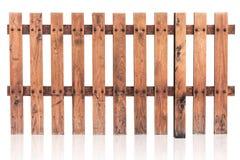 En bois japonais de pin de barrière en bois d'isolement photo libre de droits