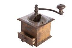 en bois manuel fait à la machine de rectifieuse de café vieil Photo stock