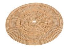 En bois en osier de panier en bois dans la vue faite main de 45 degrés Photos stock