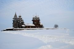 en bois russe de musée célèbre de kizhi photo stock